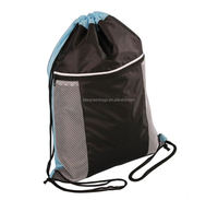 Eco-friendly promotional mesh drawstring bags drawstring sport bags with your design