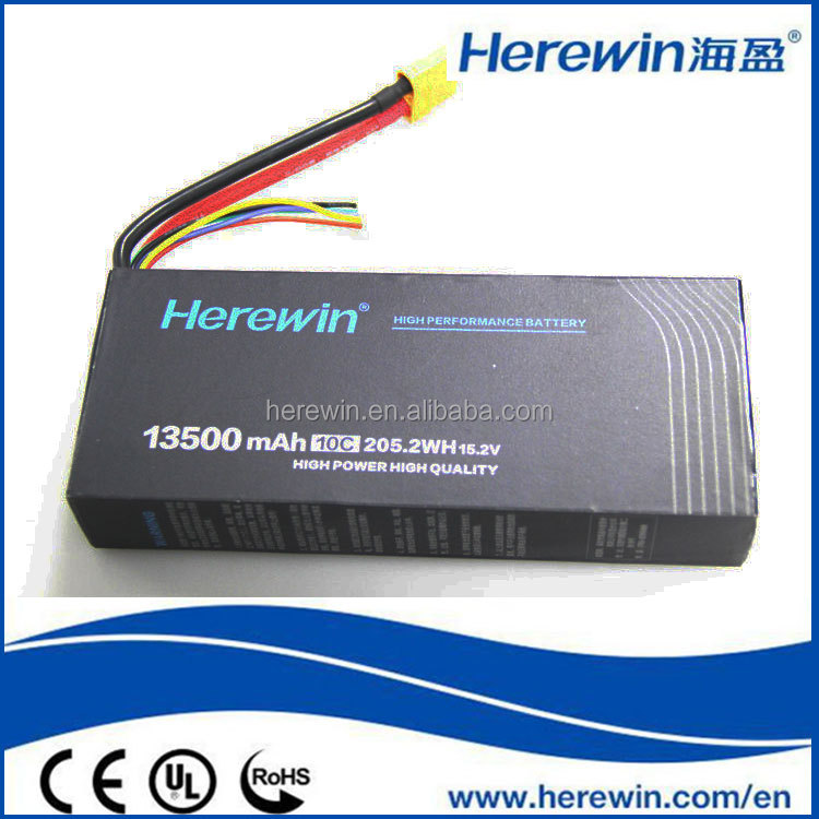 Hot <strong>Sale</strong> 15.2V 13500mAh Lithium Polymer Rechargeable Battery Li-Ion Rechargeable Battery for RC Model