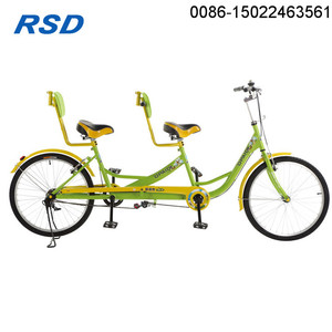 Double seat bicycle / Two People Bike / Good brand one alloy wheel Tandem Bicycle