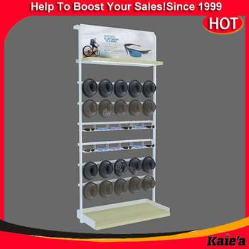 Factory price hat display rack,metal hat display rack wtih hook