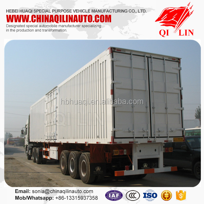 Hot sell heavy duty small box trailer , QLG9401CCY van semi trailer small box trailer