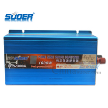 Suoer DC 12v to AC 220v pure sine wave solar power inverter 1000w with CE/RoHS
