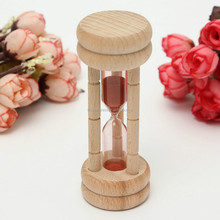 Cheap Promotion Mini Wooden Kids Sand Timer toy 30 Seks Hourglass for sale