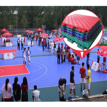 2018 popular indoor and outdoor temporary / portable / plastic /removable basketball court flooring materials