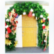 Special Garland Door with Green Pine needle and felt stock .boots,flowers decoration