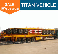 Hot sale 40ft faltbed cimc 4 axle trailers with 20 % off