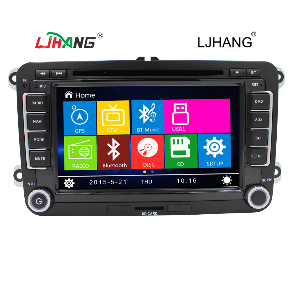 Wince 6.0 7 inch 2 din car dvd player VW Passat b6 navigation radio system