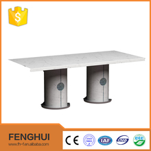 Chinese furniture white modern design dining room table