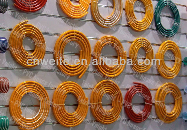 "Voight 8.5mm 5/16"" PVC high pressure spray hose braided hose- power sprayer hose brass fitting"