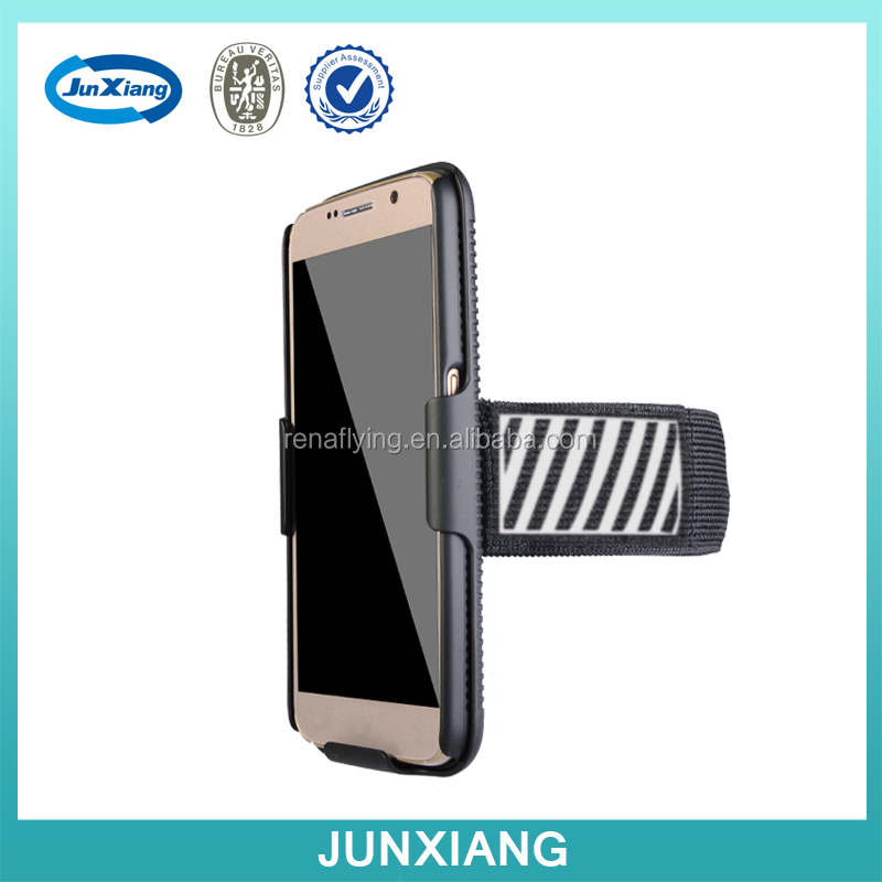 phone case with armband fit for many model with reflective frame