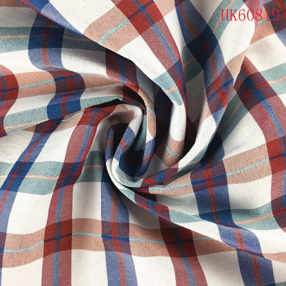 Wholesale yarn dyed 95%poly 5%spandex plaid fabric for garment