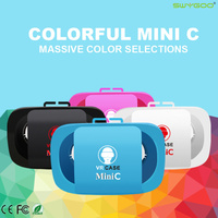 Newest Mini C VR Box Virtual Reality Google Cardboard Case 3D Glasses For iPhone 5 6 Samsung Android 4.5-5.5 inch Smart Phone