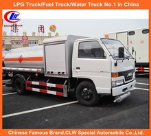 Oil Tanker Truck Capacity 4000Liter with Oil Filling Machine & Filling Gun