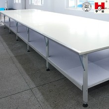 Double Layer Garment Industrial Sewing Cutting Tables