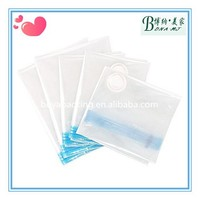 Plastic vacuum storage bag with manual air pump for food storage
