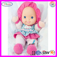 A974 Plastic Doll Face Stuffed Soft New Interactive Intelligent Reborn Baby Doll
