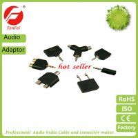 Male Jack Audio Y Adapter