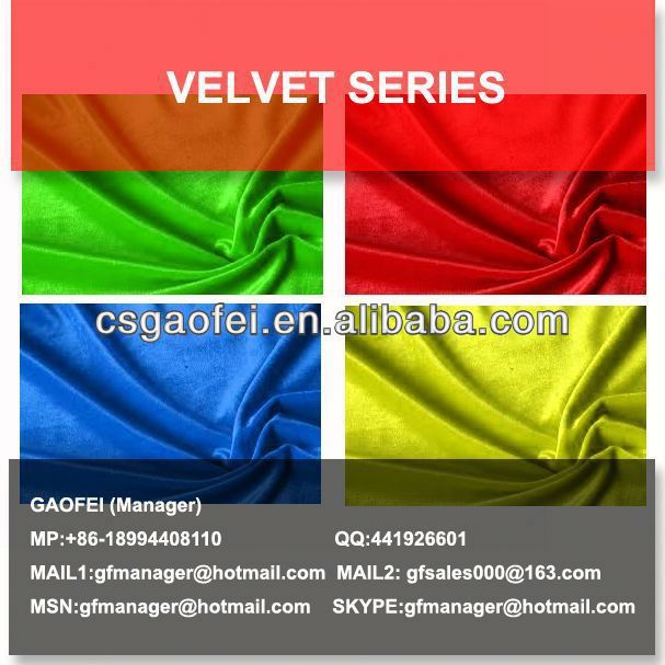 Viscose and polyester etched-out velvet fabric for curtain