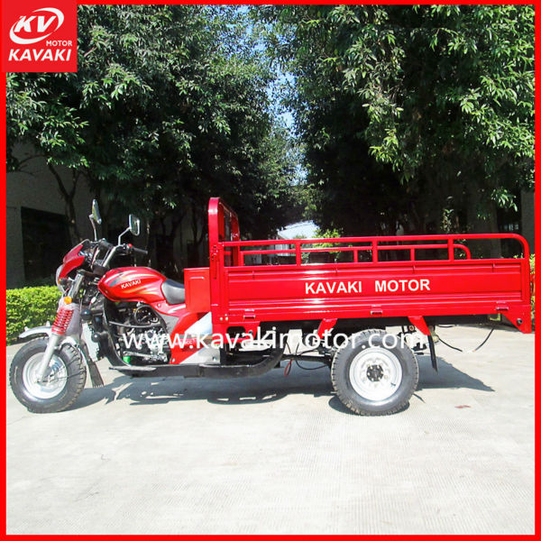 Guangzhou KAVAKI Cargo Water Cooled Tricycle / Gas Oil Model Motor for Large Capacity
