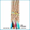 Multicolor popular long women beads necklace with tassel