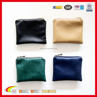 Leather Zipper Coin Pouch Various Colors for Customized, pu Leahther Coin Purse Wholesale