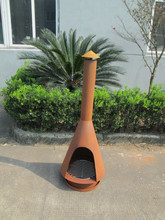 mental chiminea rust fire pit with grill