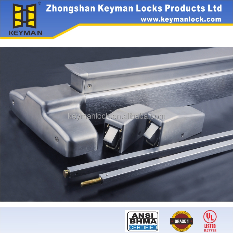UL door lock zhongshan panic bar exit device with fire rated