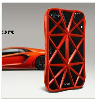 metal grid top grad for iphone5 case;alum cover for iphone5