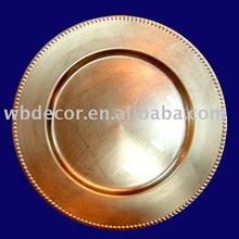 superior quality gold charger plate