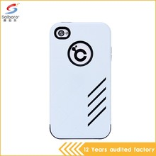 Flexible price low moq shockproof white for iphone 4 case