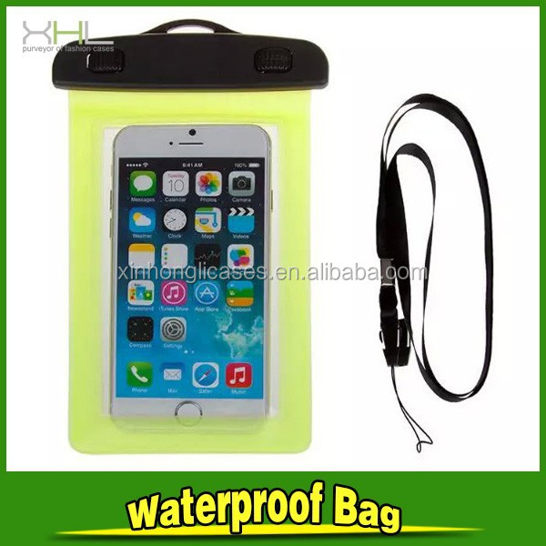 waterproof bag cover for smartphone, mobile Waterproof PVC Bag For IPhone, transparent PVC phone bag