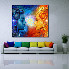 Tantra Shiva And Shakti Wall Art Picture Home Decor Living Room Modern Canvas Print Figure Painting No Frame