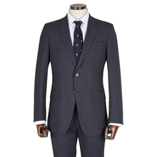 Western Style Man Navy Blue Office Business Coat Pant Suit