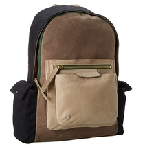 waxed canvas designer backpack