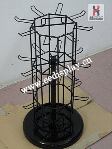 display for small pendants wire display stand/key rings display rack / Rotating freely round display holder