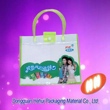 PVC extremly clear plastic tube handle bags