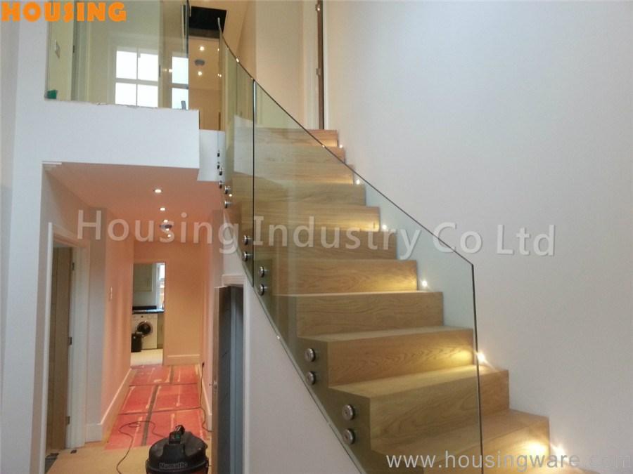 vidrio curvado escalera barandilla con firme material de acero inoxidable diseo para su villa moderna buy product on alibabacom