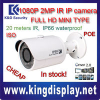 cheap DAHUA HFW3200S onvif2.2 IP camera 1080P with POE in stock 2 mp MINI ir bullet NVR Kits IP CAMERA KITS
