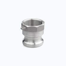 camlock ss 316 1000 PSI dn25 stainless steel male npt threaded quick connector for tube