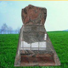 Black and dark grey granite tombstone,tomb design