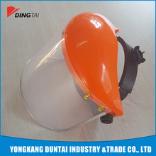 safety wear protection equipment plastic face shield with safety helmet