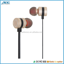 Custom Logo Earphone Mobile Phone Accessory with Metal Cover Earphone