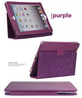Two folds PU leather stand fashional flip tablet cases for apple ipad Mini 4