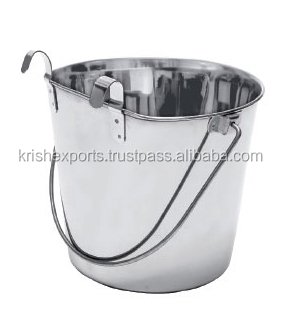 Pail Bucket - One Side Flat & with Hook