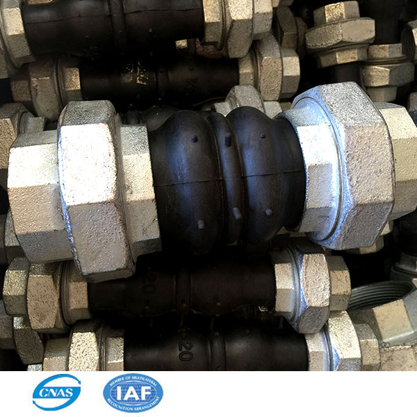 bellows rubber joint threaded type active joint for water pipe