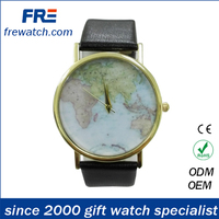 newest fashion wrist watch with map printing dial watch for promotion events