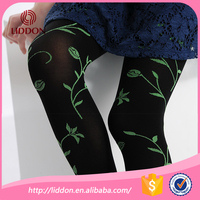 free sample girls black silk stockings pantyhose with jacquard followers