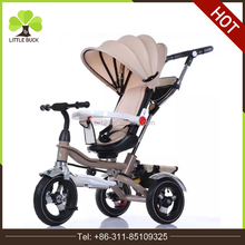 4in1 type kids baby tricycle children tricycle high quality softtextile baby stroller 2016 new model tricycle baby stroller