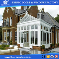 Supply aluminum glass house sunroom curved glass sliding door