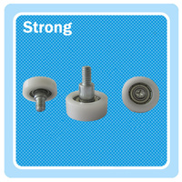 OEM nylon POM pulley plastic rollers for sliding shower doors